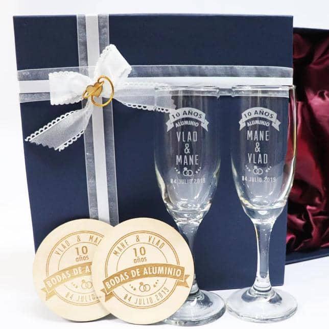 ideas de regalo para bodas de aluminio